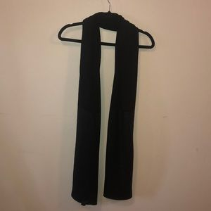 Lululemon Black & Metallic Black Wool Scarf